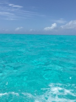 This was the actual color of the water.