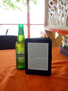 The majority of my week. Kindle, beer, beach, bliss.