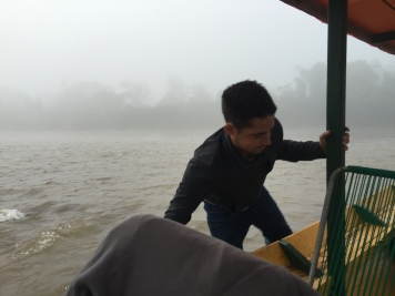 It was low river, not rainy season. Involved pushing.