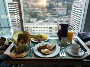 Fabulous breakfast in my room