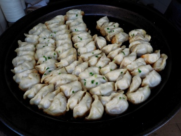 Amazing dumplings from a street stall we would have a hard time finding again