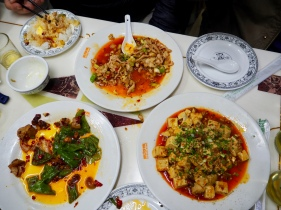 Delicious spicy food on the food tour