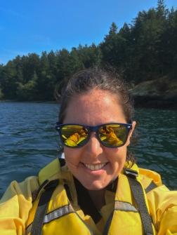 Kayak selfie - didn't drop the phone!