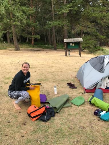 Setting up camp on Jones