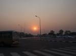 Arrival at sundown